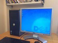 *** FULL SET**Dell 360 / intel 3.06Ghz / 4GB Ram/ Windows 7+Office + Dell Monitor Desktop Computer