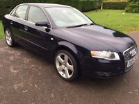 2005 AUDI A4 2.0T FSI SE WITH ONLY 80066 MILES. EXCELLENT CONDITION WITH NEW SERVICE & MOT