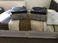 Two Technics SL 1210 MK 5 & 2x needle Ortofon Concorde Pro S Set