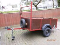 BARGAIN. FOR SALE 6ft x 4ft trailer red brown. VGC