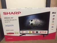 "BRAND NEW 40"" Sharp ULTRA HD SMART LED TV"