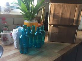 20 Blue Bottles