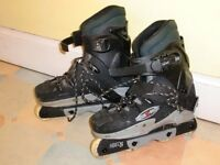 Hard X Corr TS6000 roller blades, UK men's size 9, good condition