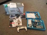 Wii Console and 5 Games