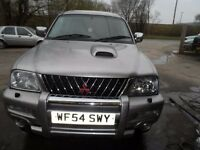 2004 54 MITSUBISHI L200 WARRIOR SILVER , 3 MONTHS WARRANTY ,NEW ENGINE , FREE UK DELIVERY