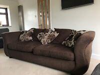 Large Comfy Sofa and Cushions