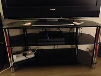 FREE Black glass/chrome wide TV stand for collection in Haywards Heath