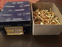 Woodscrews Brass 6x1