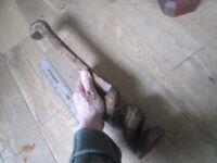 antique hand crafted Tribal Art Asian African snake cobra wooden figurine balsa wood