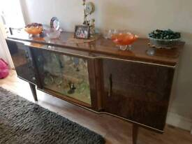Solid wood vintage drinks cabinet