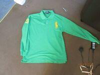mens ralph lauren polo top size small - medium 36 chest shirt