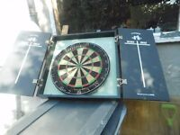 DART BOARD IN CUPBOARD WITH SCORING BOARDS CAN DELIVER