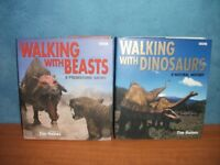 BBC WALKING WITH BEASTS AND DINOSAUR BOOKS