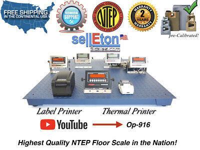 New Ntep Legal Industrial Warehouse 48 X 48 4 X 4 Floor Scale 10000 X 2 Lb