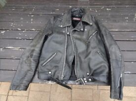 GREAT Vintage USA made Brookes leather jacket
