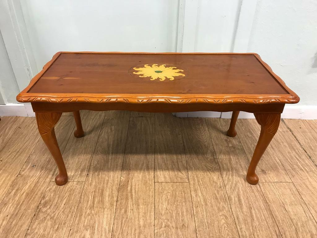 Vintage cherry wood coffee table