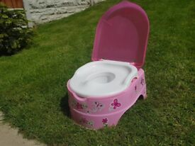 Baby potty, pink, great condition