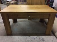 Solid oak coffee table as new £80 ono
