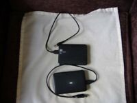 2tb external hard drives hardly used with usb cables