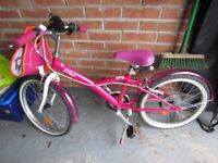 Bike Age 6-9 years B'twin Mistigirl Kids 20in Hybrid- Pink