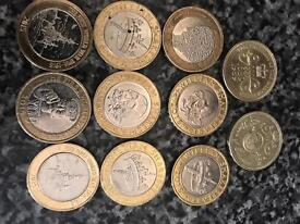 Rare coins off side rule Beatrix potter Olympics etc