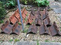 20 x Clay Roof Ridge Tiles - 2 Hole Style - £1 per tile
