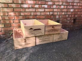 Wooden wine boxes / storage crates £10 each