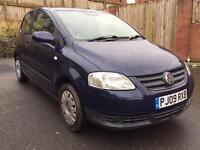 VOLKSWAGEN FOX S 2009 60k MILEAGE FULL HISTORY ONE OWNER FROM NEW BARGAIN!