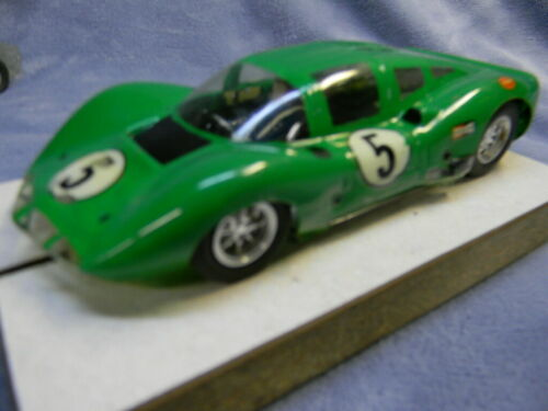 1/24 SCALE VINTAGE RUSSKIT 1966 CHAPPARAL 2D COUPE ALUMINUM PAN GREEN SLOT CAR