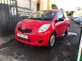 Toyota Yaris 1 Litre Petrol Manual 3 Door Hatchback 2007 Red Stunning Car FSH