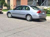 2002 honda civic 1.7l good on gas runs perfect