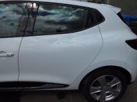 2015 RENAULT CLIO MK4 REAR DOOR PASSENGER SIDE LEFT IN WHITE COMPLETE #6181