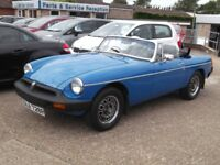 MGB ROADSTER in Tahiti Blue in good useable condition