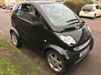 Smart Pulse Softtouch Automatic 599cc Petrol 2 door 02 Plate 08/06/2002 Black