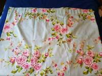 62.5W x 71L (inches) flowery pencil pleat curtains