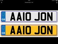 Cherished number plate on retention