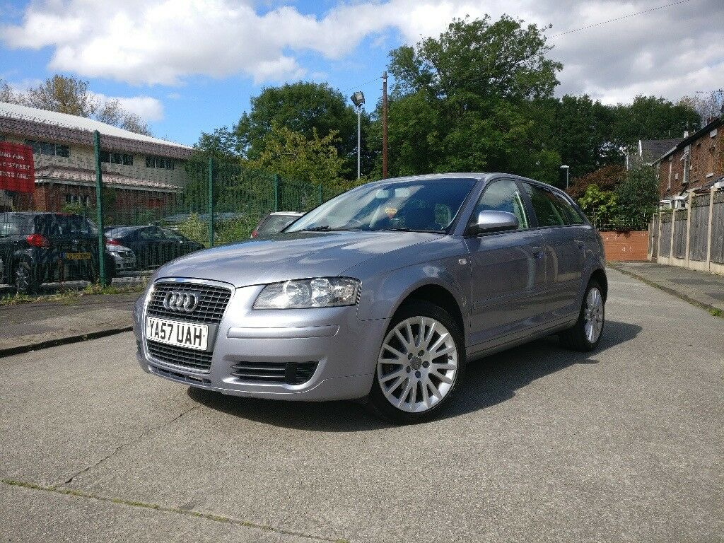 57 plate 2007 audi a3 1 9 tdi s line diesel manual silver hatchback 4 door family in. Black Bedroom Furniture Sets. Home Design Ideas