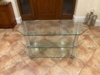 TV 3 TIER GLASS STAND