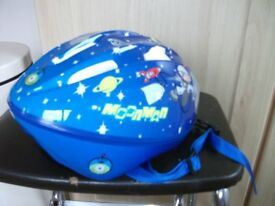 Boys Moonman cycling helmet.