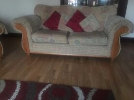 3 seater sofa and 2 chairs, price reduced