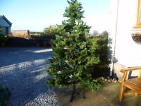 A beautiful 7ft Christmas artificial tree with real cones