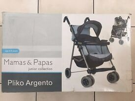 Mamas and Papas Pliko Argento (Junior Collection) Pushchair (Brand New)