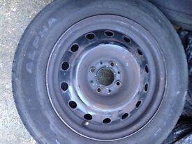 Citroen 185 65 15 wheel and tyre