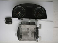 VW Caddy 2K 1.6 TDi CAYE engine ECU 03L906023PA, instrument cluster 2K0920965E and both keys