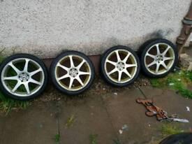 Bk raceing alloys 17 5x100 swap