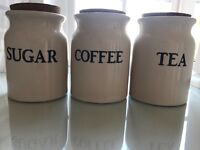 Tea, Sugar and Coffee Containers