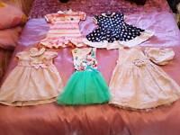 5 12/18month dresses