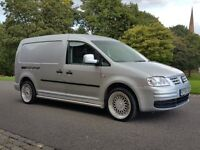 2008 VOLKSWAGEN CADDY MAXI 1.9TDI METALLIC SILVER COLOUR CODED **CUSTOMISED *&* RARE * TRANSPORTER