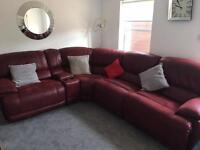 Guvnor red corner suite & chair