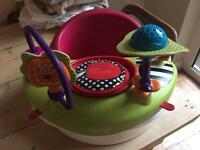 Mamas & Papas bumbo seat with play tray